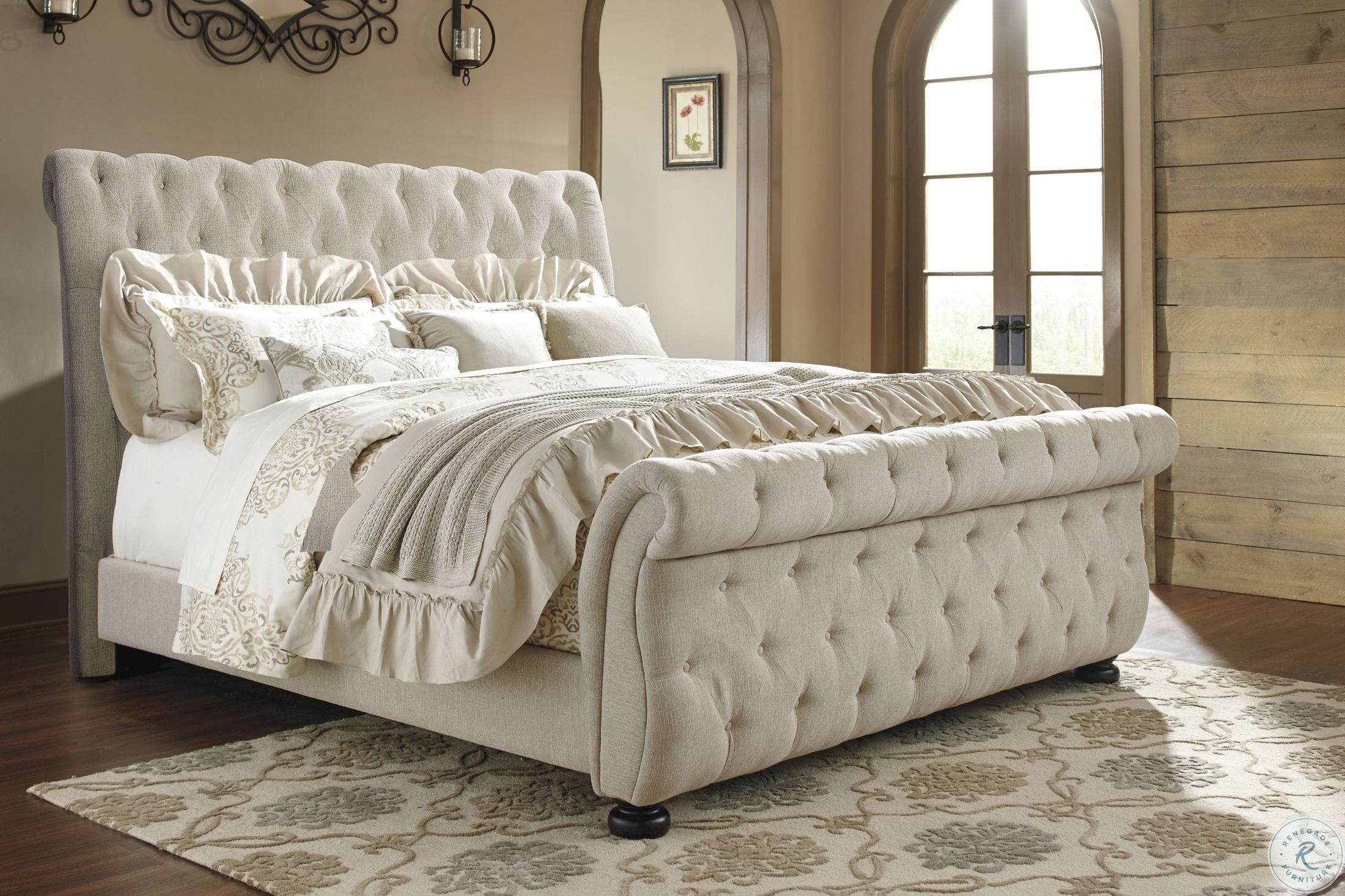 New Bohemian The Boho King Chic Upholstered Sleigh Bed In 2020 Upholstered Sleigh Bed Luxurious Bedrooms Bed Linens Luxury