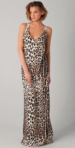 Zebra maxi dress h&m