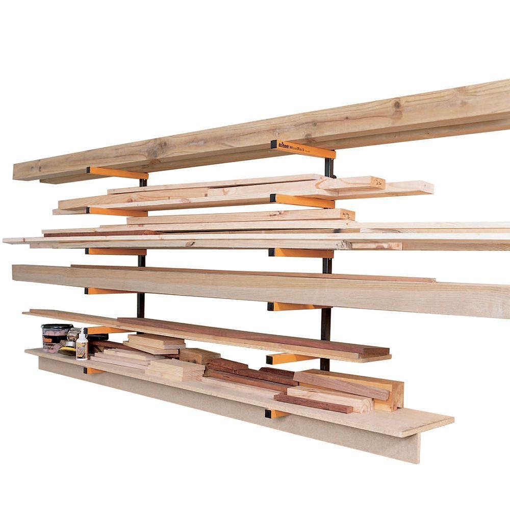 Triton 12 In 6 Shelf Powder Coated Steel Wood Rack Storage System