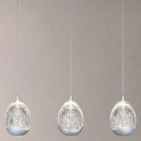 Buy John Lewis 3 Droplet LED Pendant Ceiling Light, Chrome Online at johnlewis.com