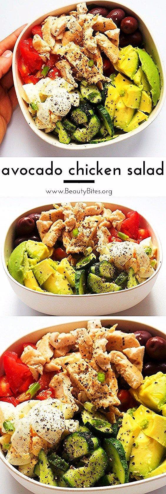 Healthy Avocado Chicken Salad Recipe | Low Carb + Meal Prep Option    Avocado chicken salad - a