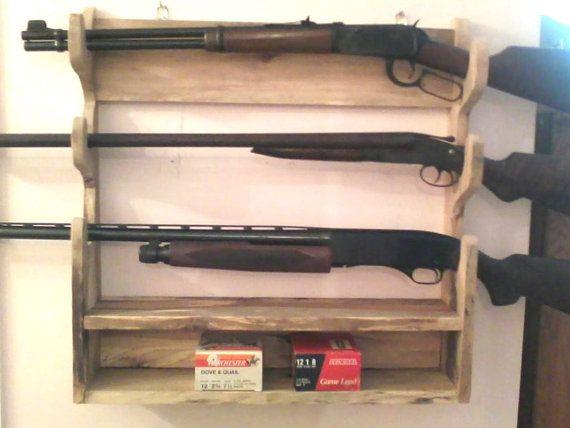 how to make airsoft gun rack