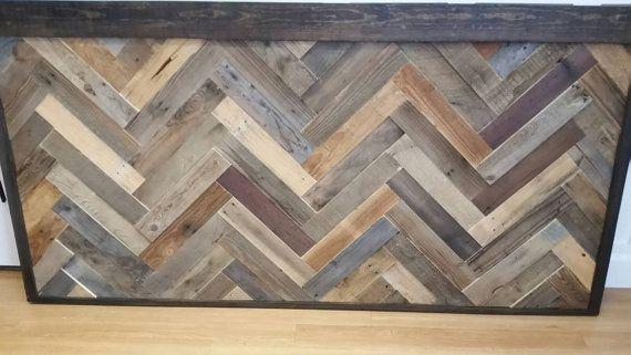 rustikale kopfteil aus altholz wanddekoration - Kopfteil Plant Holzbearbeitung