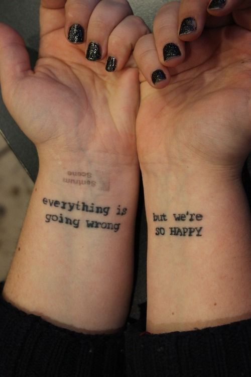 Quote Tattoos For Girls On Wrist