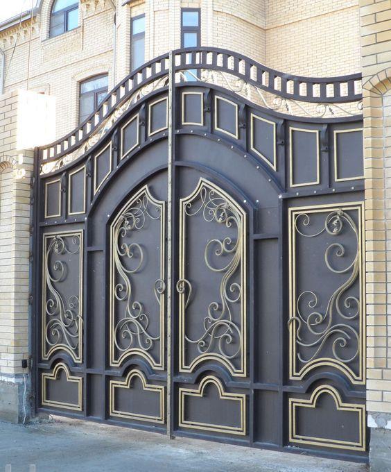 أشكال بوابات حديد متميزة للفيلات الأناقة والديكور Iron Gate Design Steel Gate Design Gate Design