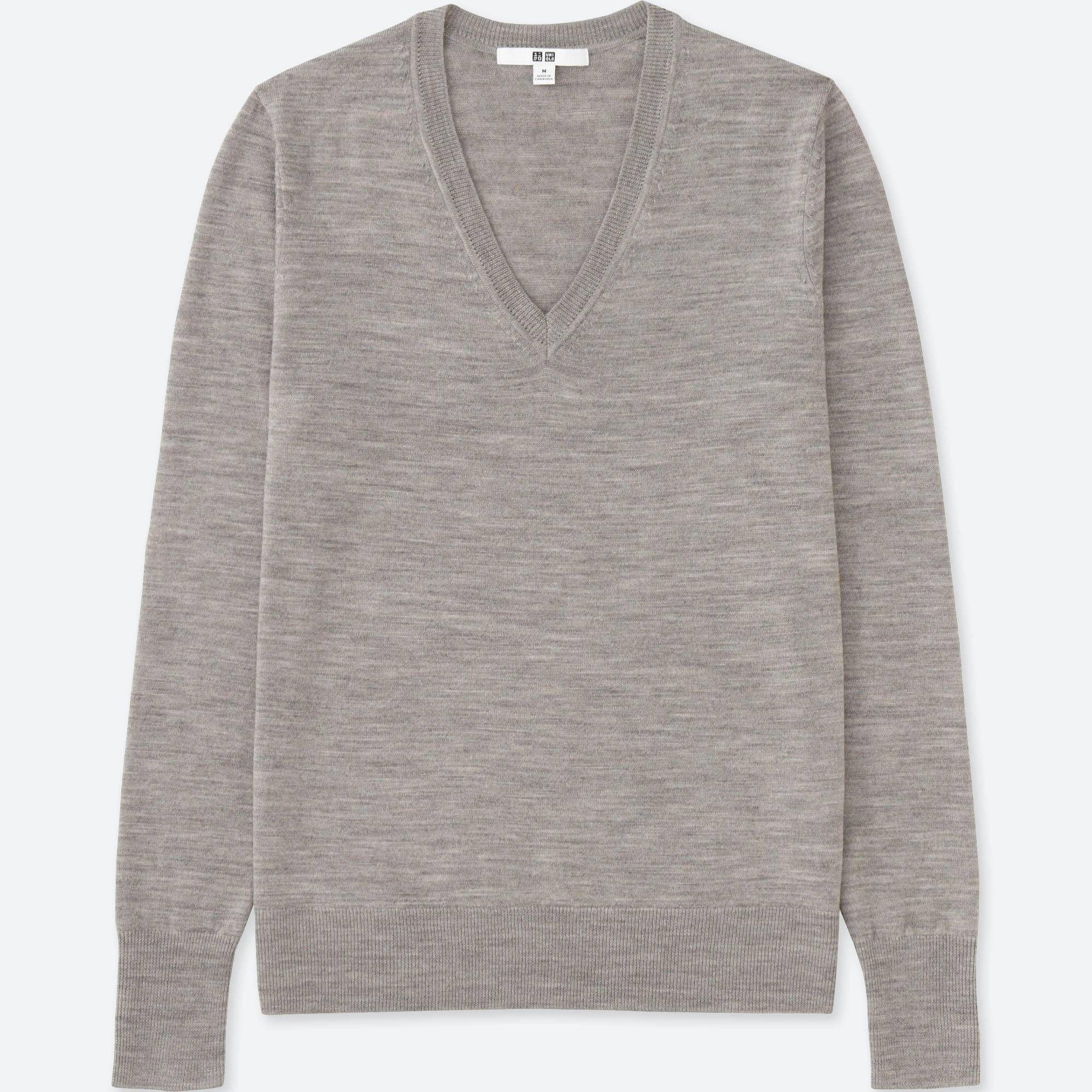 Women extra fine merino wool vneck sweater fall capsule wardrobe