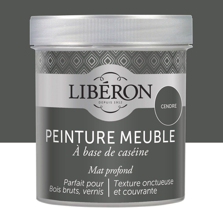 Peinture Meuble Et Boiserie Liberon Caseine Cendre Mat Profond 0 5 L Peinture Meuble Liberon Peinture Meuble Bois