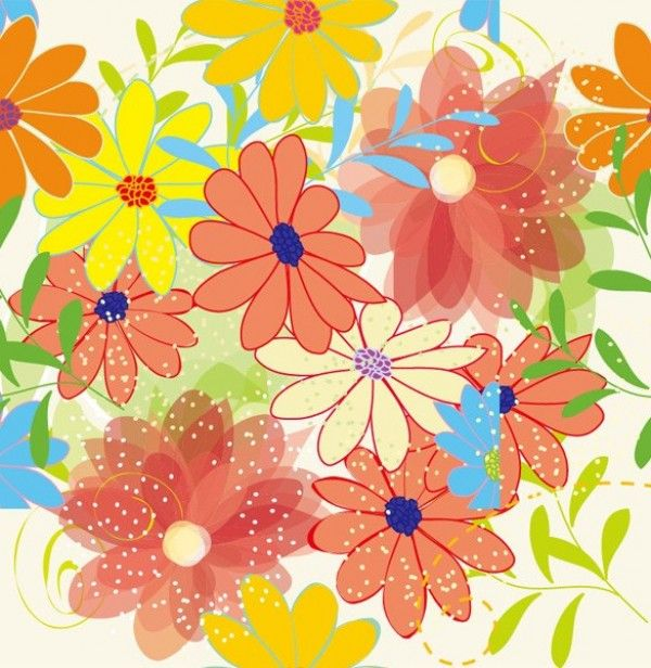 Soft Spring Floral Abstract Vector Background - http://www.dawnbrushes.com/soft-spring-floral-abstract-vector-background/