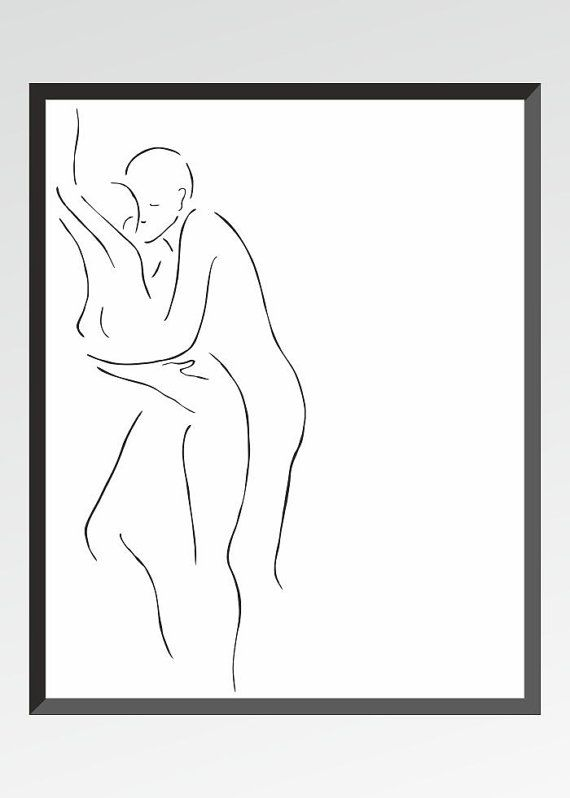art erotic Couple silhouette
