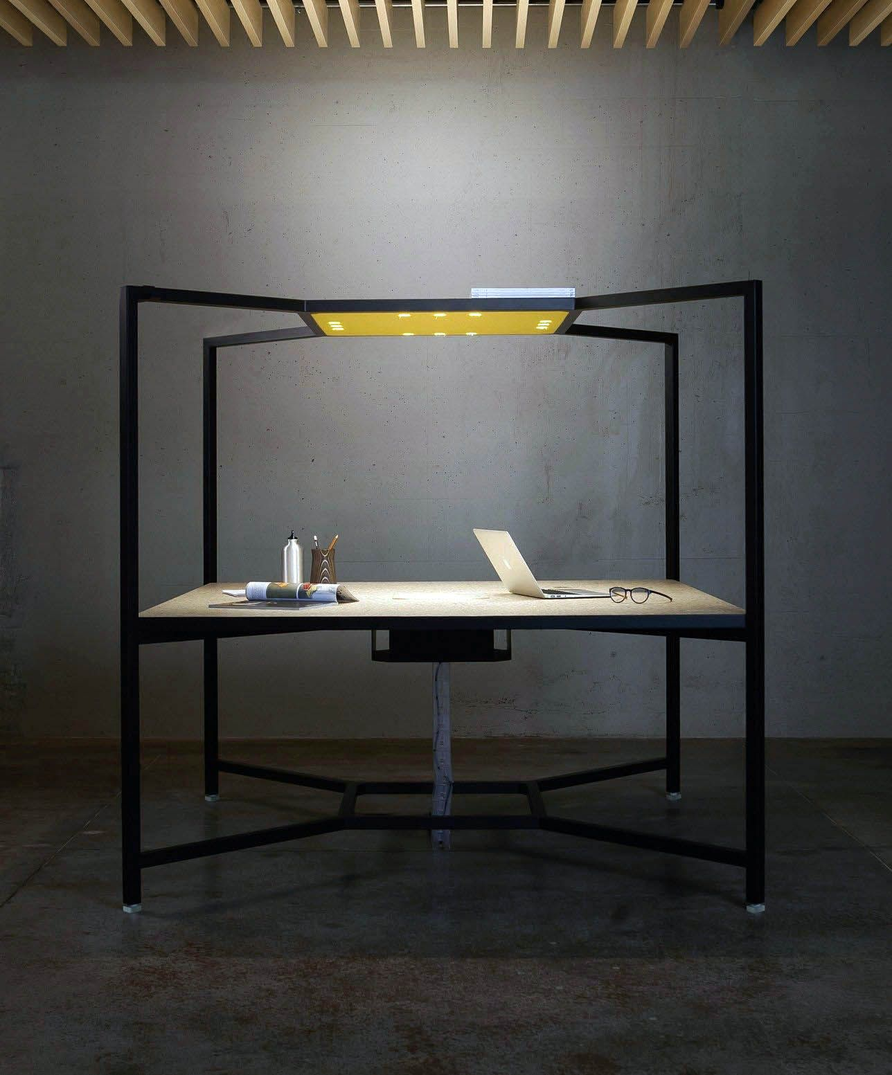 Cozy workstation computer desk in black finish for your home