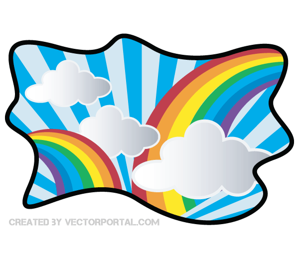 rainbow with cloud clip art clip art three pinterest clip art rh pinterest com clip art background designs clipart backgrounds and borders