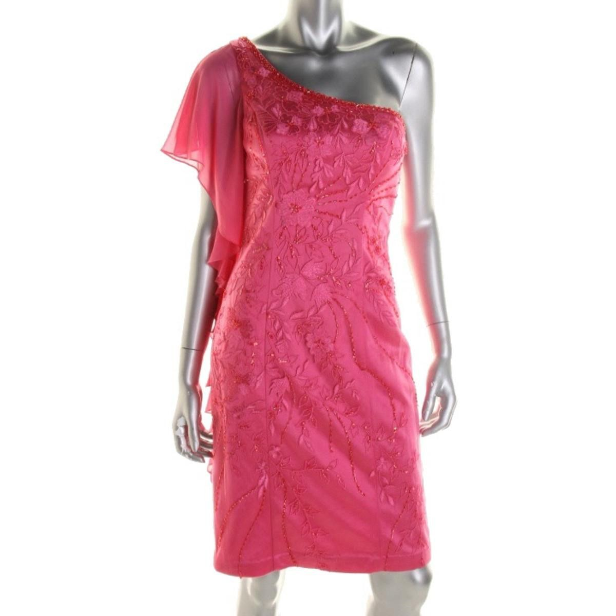 Sue Wong Womens One Shoulder Prom Cocktail Dress   Products ...