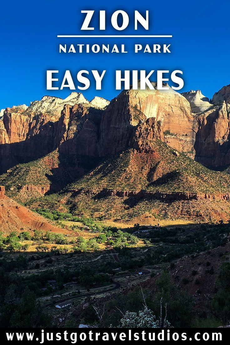Zion National Park - Easy Hikes   Utah road trip, Zion ...