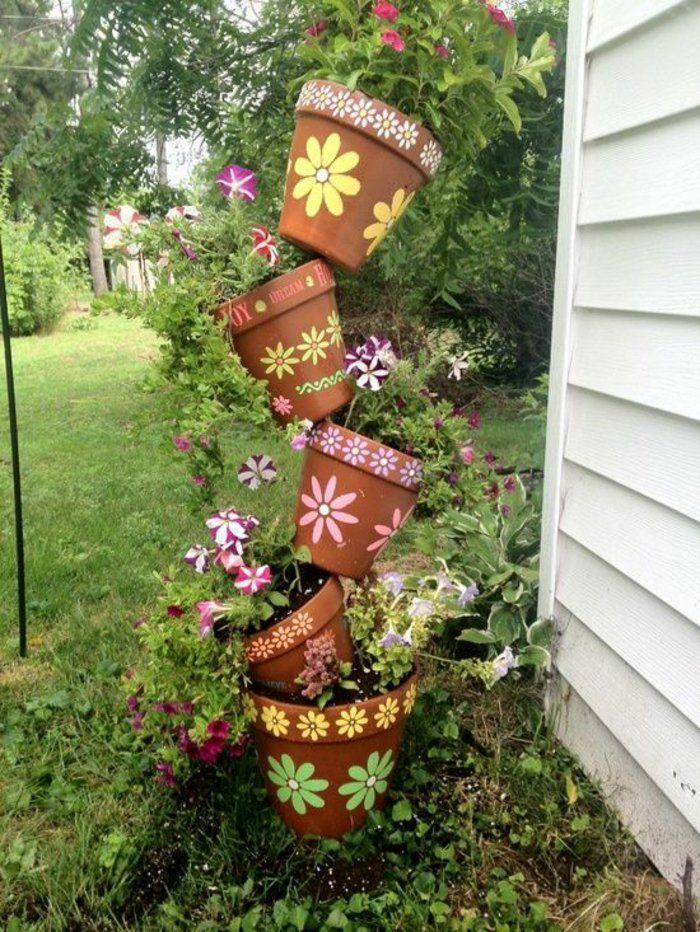 Gartendeko18 garten projekte pinterest gardens for Gartendeko terracotta