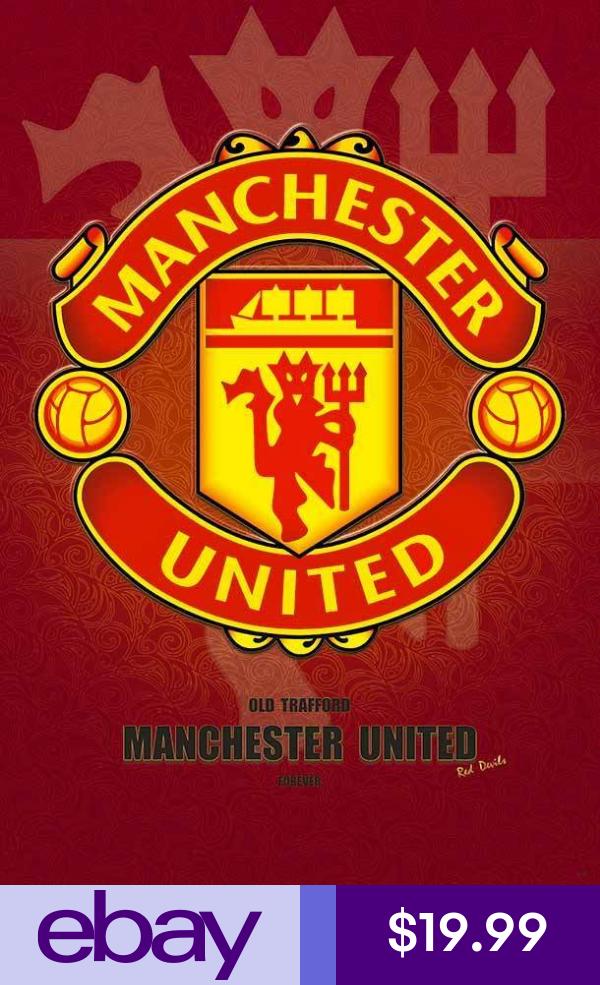 Ebaysoccer International Clubs Sports Mem Cards Fan Shop Manchester United Soccer Poster Manchester United Logo
