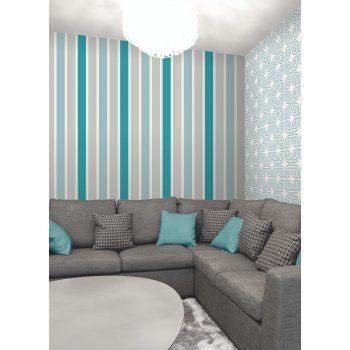 Magnum Wallpaper Teal Cream Silver Living Room Design Decor Teal Wallpaper Living Room Teal Home Decor