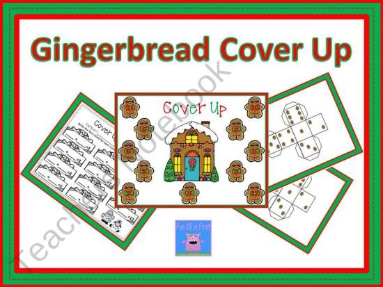 Gingerbread Cover Up product from GradeSchoolGiggles on TeachersNotebook.com
