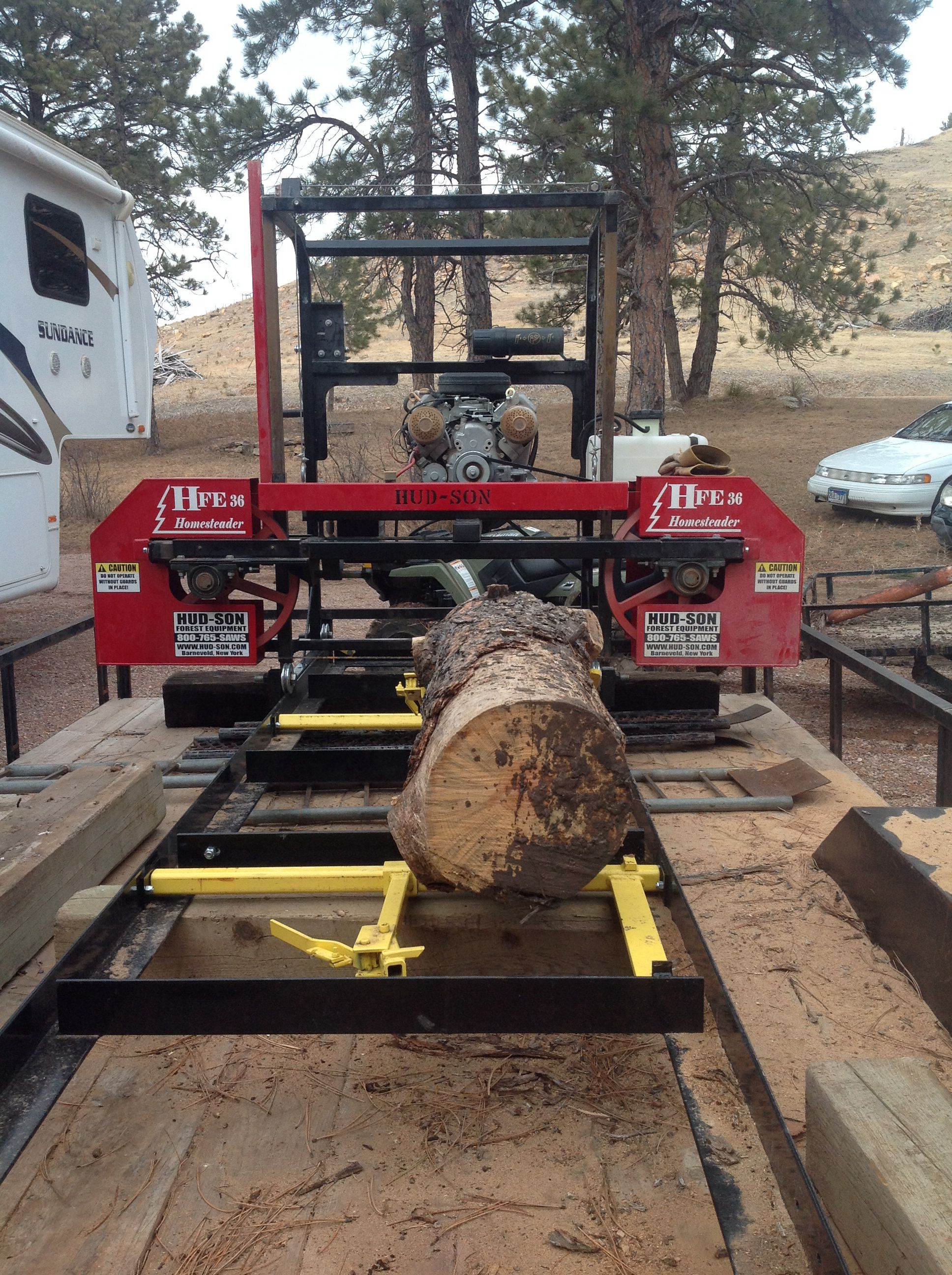 Just Picked Up A Hud Son Portable Sawmill Getting Ready
