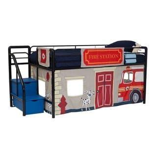 Dhp Loft Bed Curtain Set 30 H X 77 W X 40 D Fire Department
