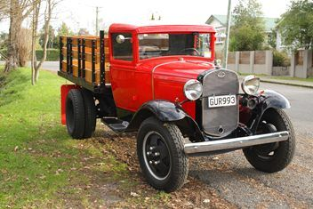 Ford Model Aa Stakeside 1931 31 Aa Stakeside Truck Dual Wheel Go To Www Trademe Co Nz Ford Pickup Trucks Ford Models Old Lorries