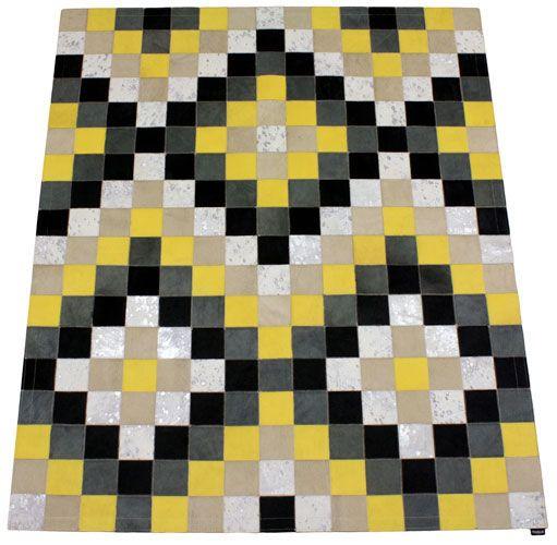 Tapis peau de vache alfombra contempor nea abstracto cuero sur mesure tergus - Alfombras contemporaneas ...