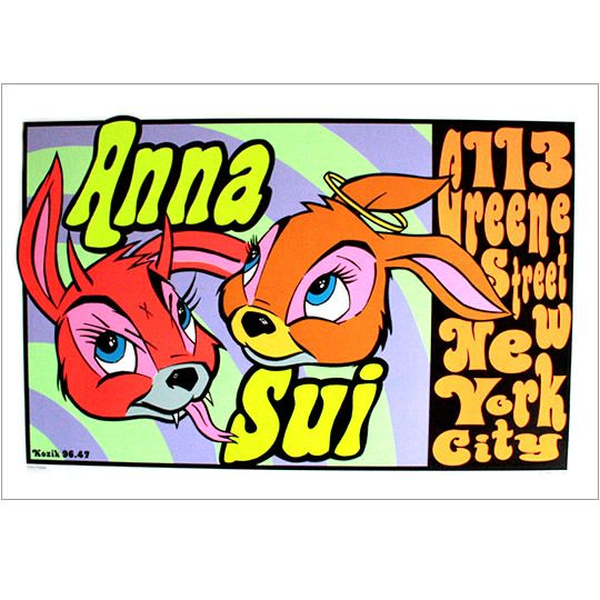 Anna Sui x Frank Kozik : One of my favorite prints; if you find one for sale, lemme know!