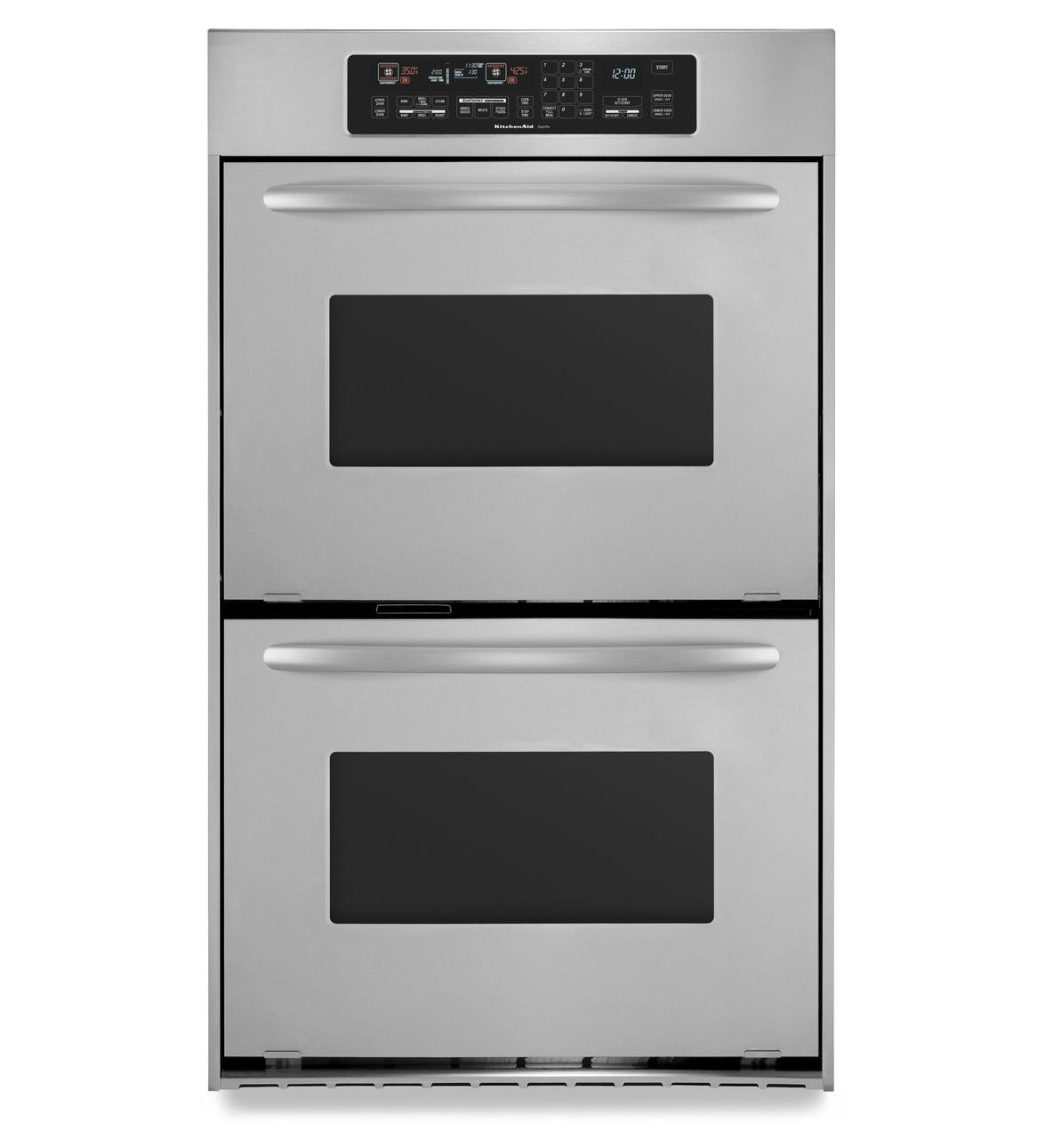 Kitchenaid 24 Inch Convection Double Wall Oven Architect Series Ii Handles Kebc247vss Stainle Double Electric Wall Oven Double Wall Oven Electric Wall Oven
