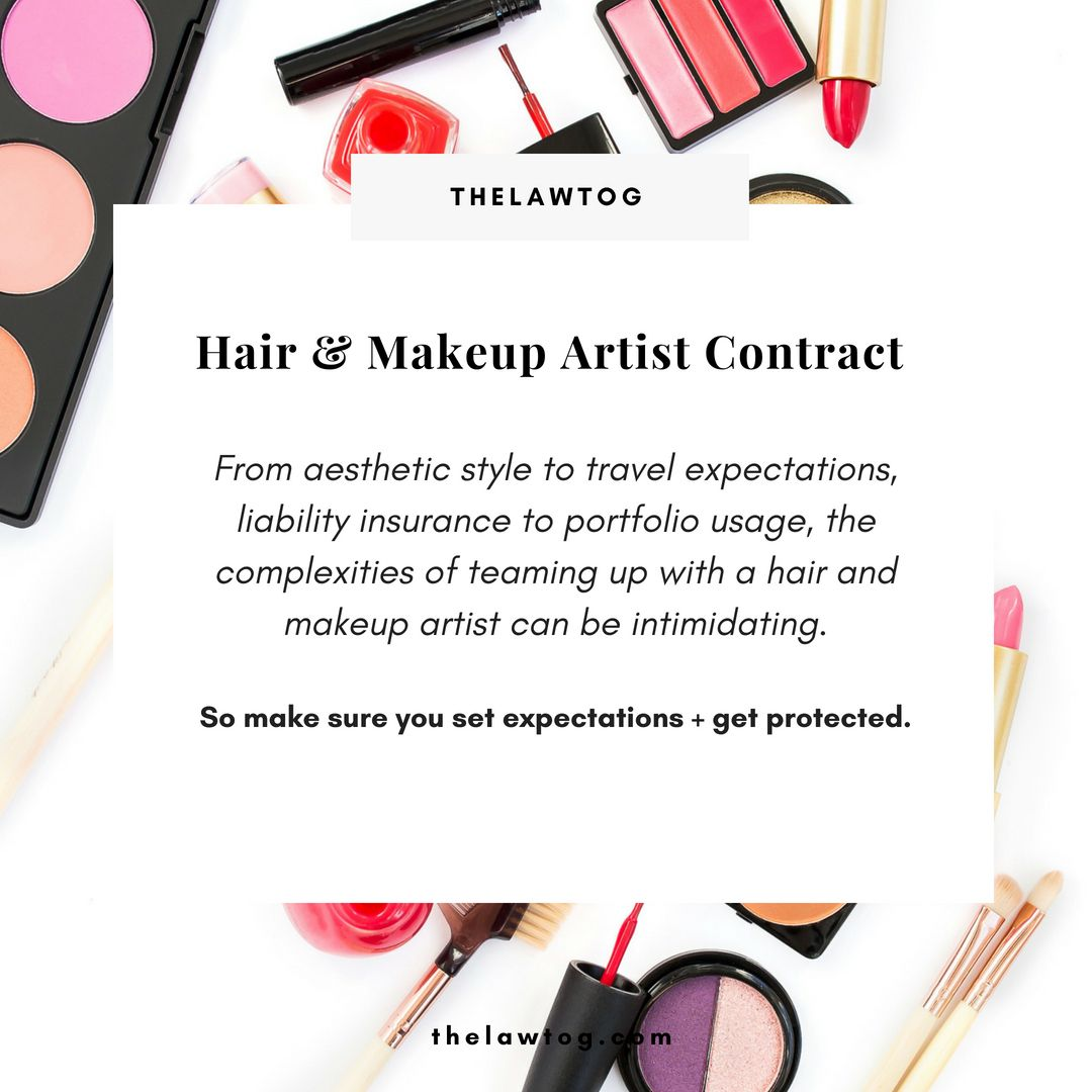 Contract For Hair And Makeup Artists For Hmua Artist Use Photography Contract Makeup Artist Hair And Makeup Artist