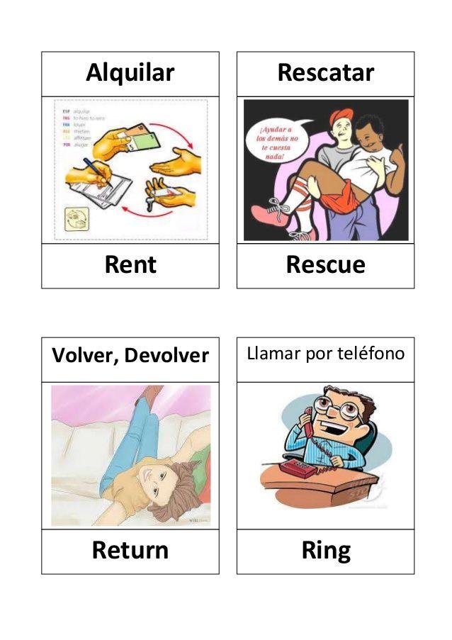 Verbos en ingles con dibujos | verbs lists regular / irregular ...