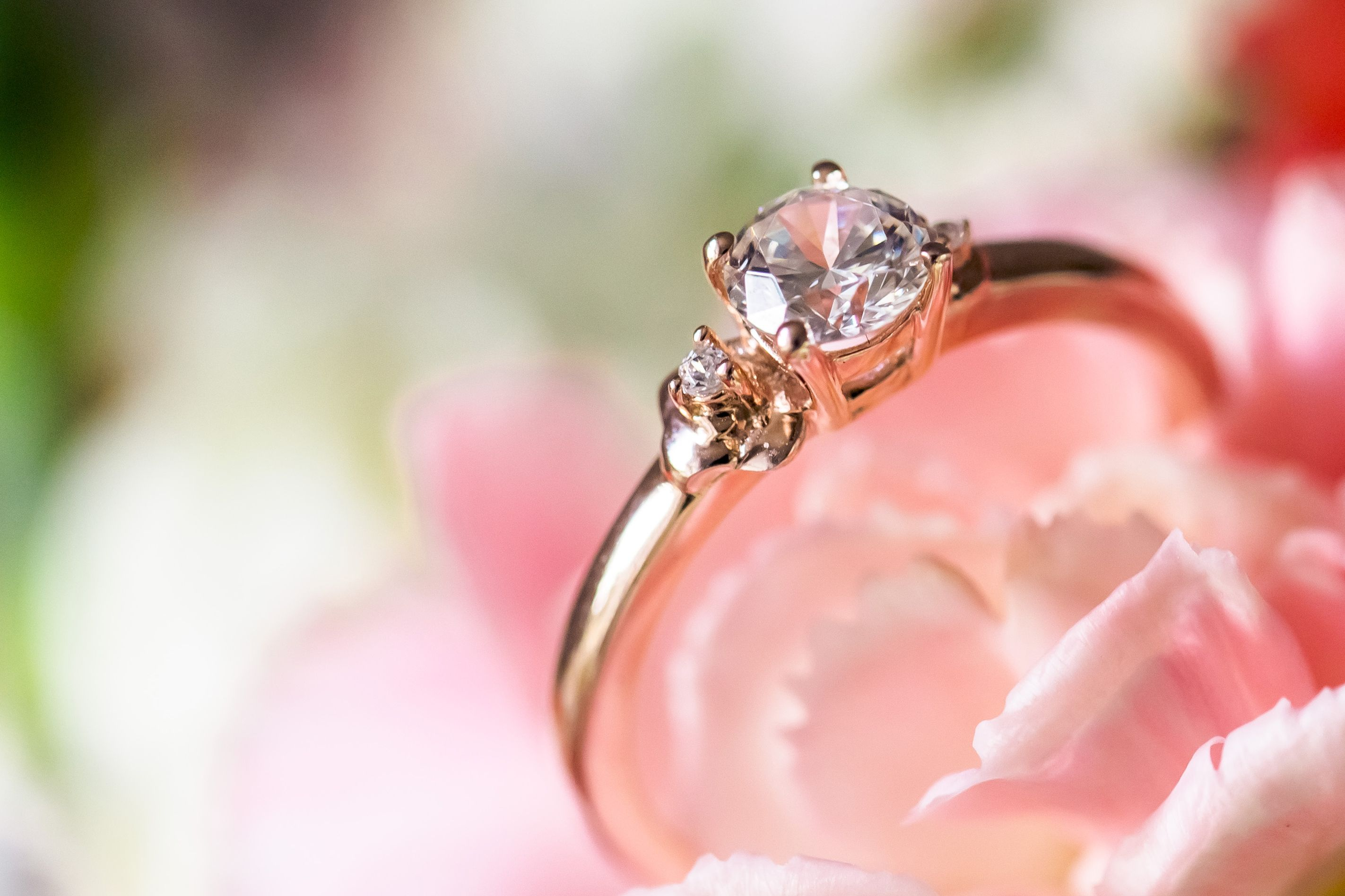 Our Cherry blossom Ethical Diamond Engagement Ring, 18ct Fairtrade ...
