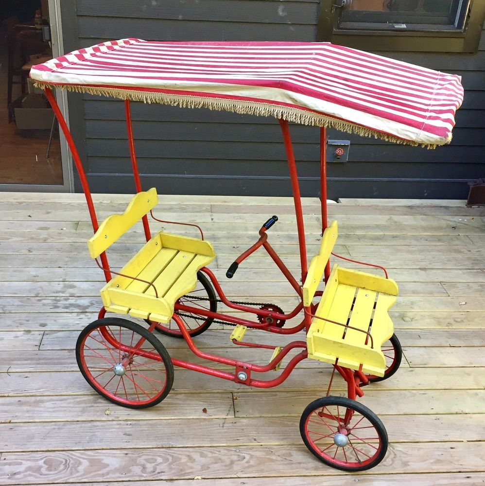 Details about Art Linkletter Gym Dandy Surrey Pedal Car