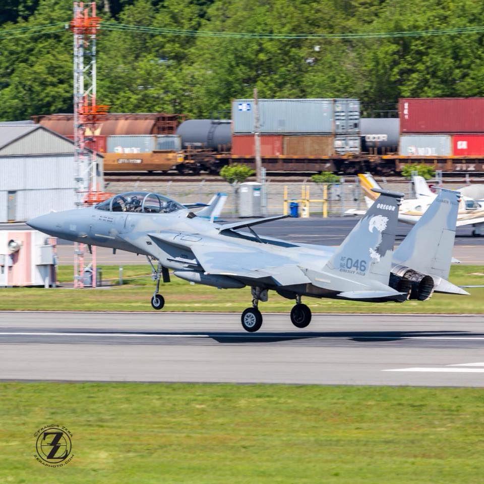 Here's the F15 based in Klamath Falls, Oregon, arriving