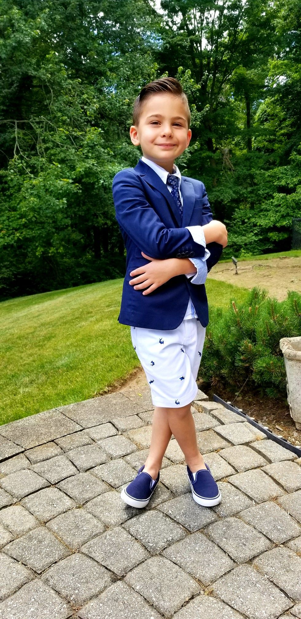 a9c3db0dae7  toddlerfashion little boy outfits Dressy boy Graduation outfit bermuda  shorts suits Sharks  dapperfella