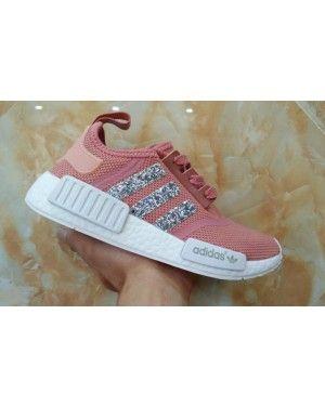 Adidas Originals NMD PK Salmon Peach White Glitter Sneakers