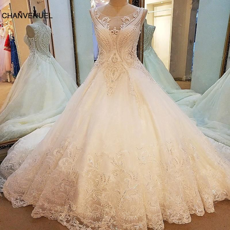 f8a6e100ca LS79210 sexy weddings dress 2018 see trough back sleeveless ball gown  mariage lace arab wedding gowns ivory real photos  bridalgowns   beachweddingdresses ...
