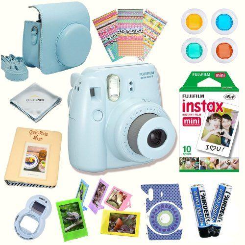 Fujifilm Instax Mini 8 Instant Camera Blue Bundle Includes