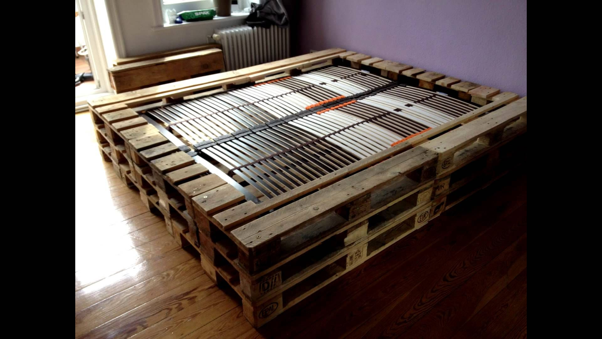 Bettgestell 180x200 selber bauen  Doppelbett aus Europaletten | JUSTDOIT. | Pinterest | Euro ...