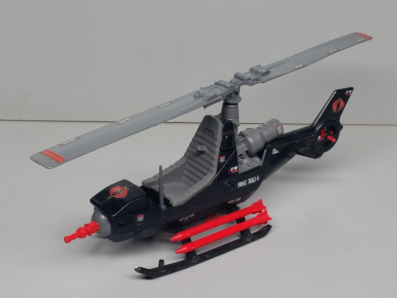 Vintage G.I joe Cobra Fang Helicopter 1983