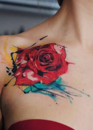Rosa En Acuarelas By Aleksandra Katsan Imágenes De Tatuajes Para