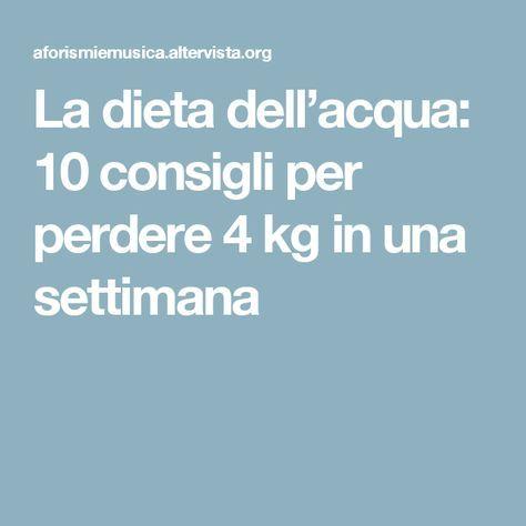 perdere peso 4 kg