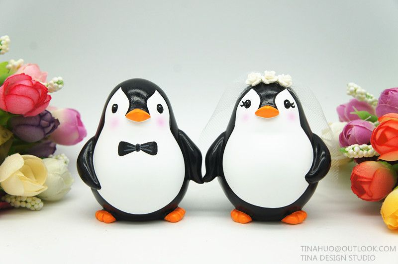 Wedding Cake Toppers Penguin | Penguin Wedding Cake Toppers ...