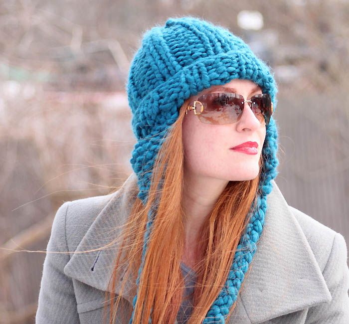Colorful Knit Hat Patterns With Ear Flaps Ornament - Easy Scarf ...