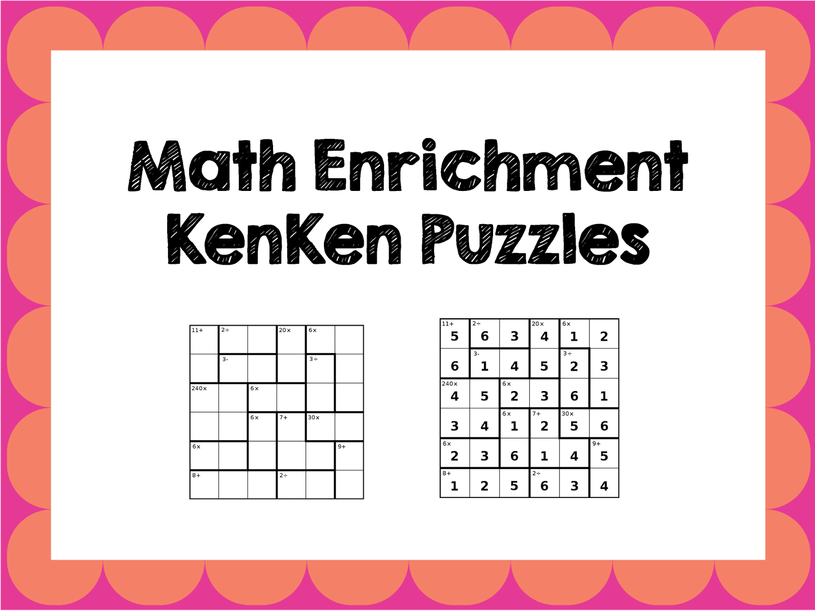 Worksheet Kindergarten Enrichment Ideas 1000 ideas about enrichment activities on pinterest teacher math freebies using kenken puzzles in the classroom harder than sudoku video of how to organize these as extension act