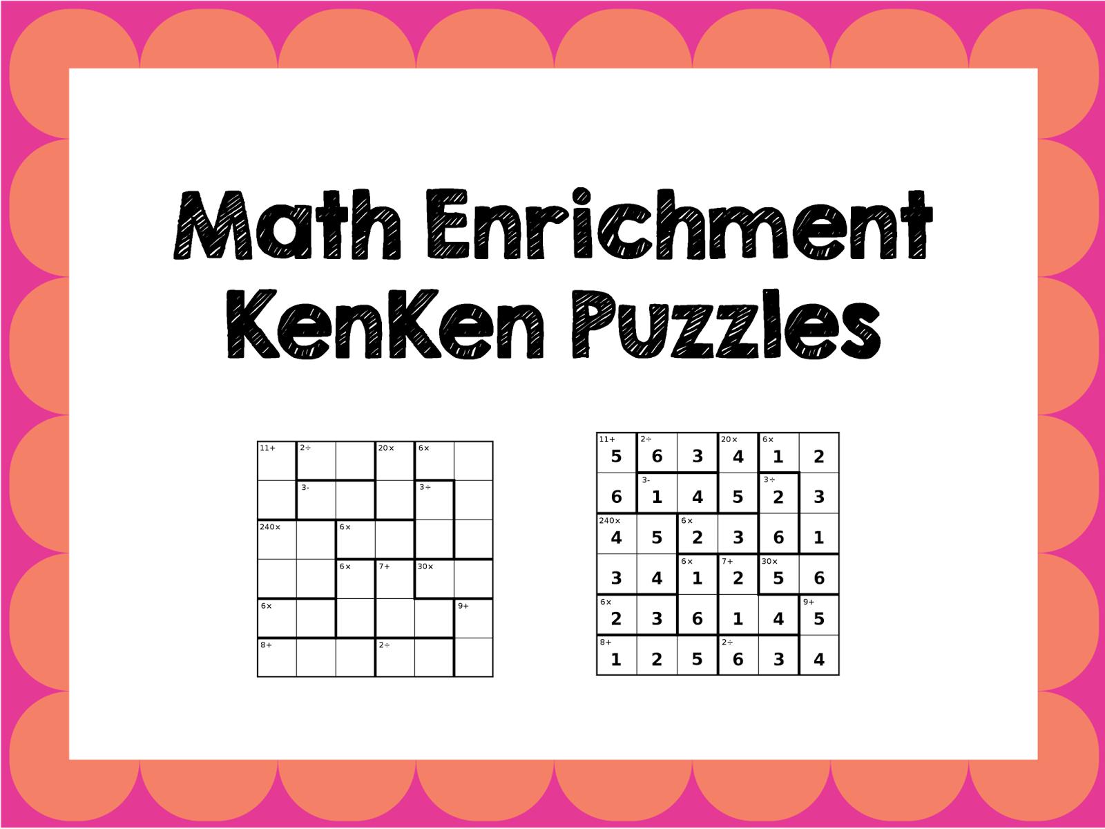 Math Enrichment Freebies