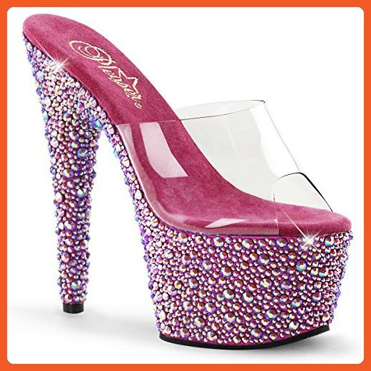 Pleaser Bejeweled 701MS(Women's) -Clear/Pewter RS Looking For Sale Online Low Shipping Fee For Sale Free Shipping h18qm8o