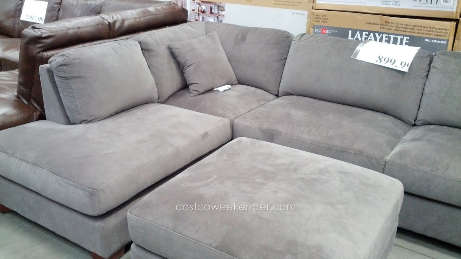 Emerald Home Furnishings Bianca 3 Piece Sectional Set Costco Leather Living Room Set Grey Sectional Sofa Sectional Sofa