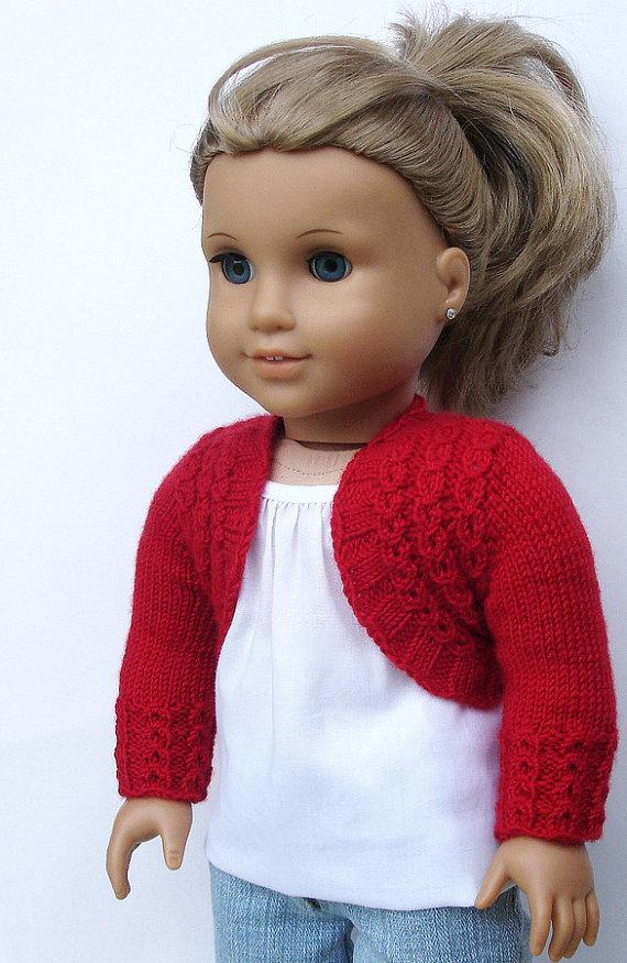 Charlotte Bolero Sweater PDF Knitting Pattern For 18 por Qute ...