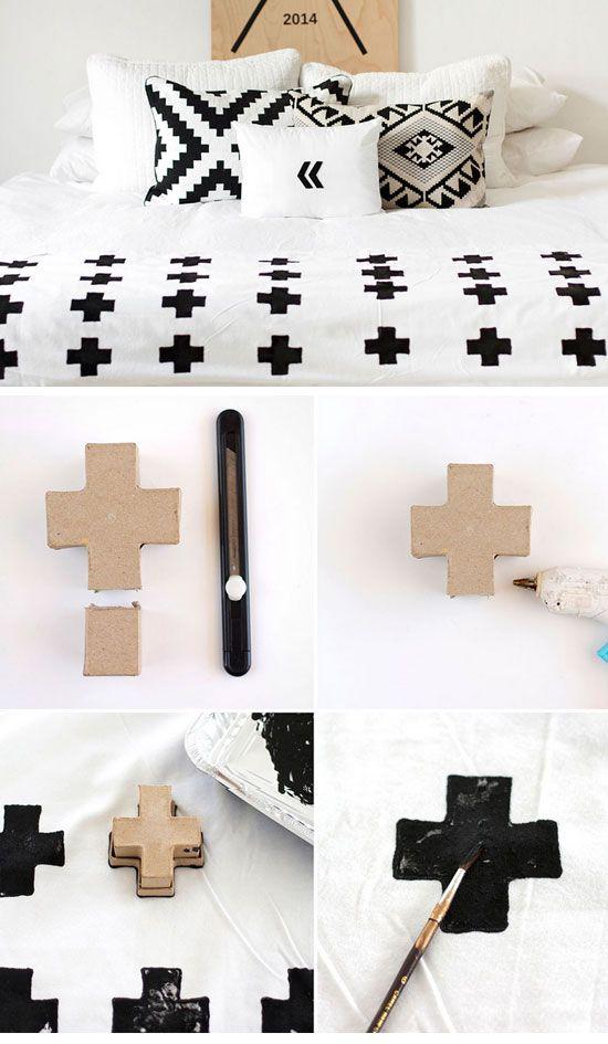Diy Swiss Cross Throw 22 Small Bedroom Decorating Ideas On A Budget Easy Diy Bedro Small Bedroom Decor Diy Bedroom Decor Small Bedroom Decorating Ideas Diy