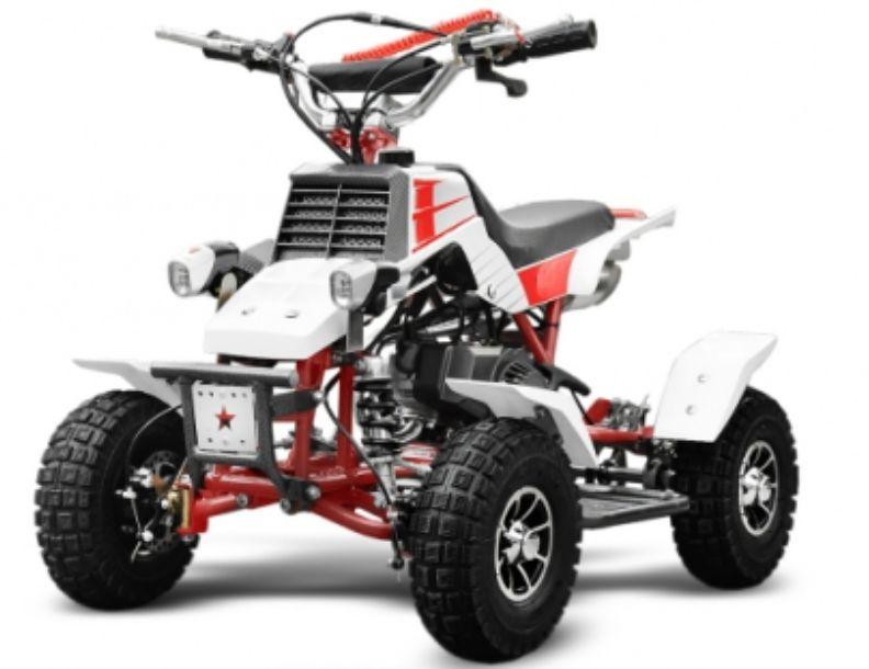 Pocket Quad 50cc Quadro Rouge Lestendances Fr En 2020 Quad Pour Enfant Quad Moteur 2 Temps