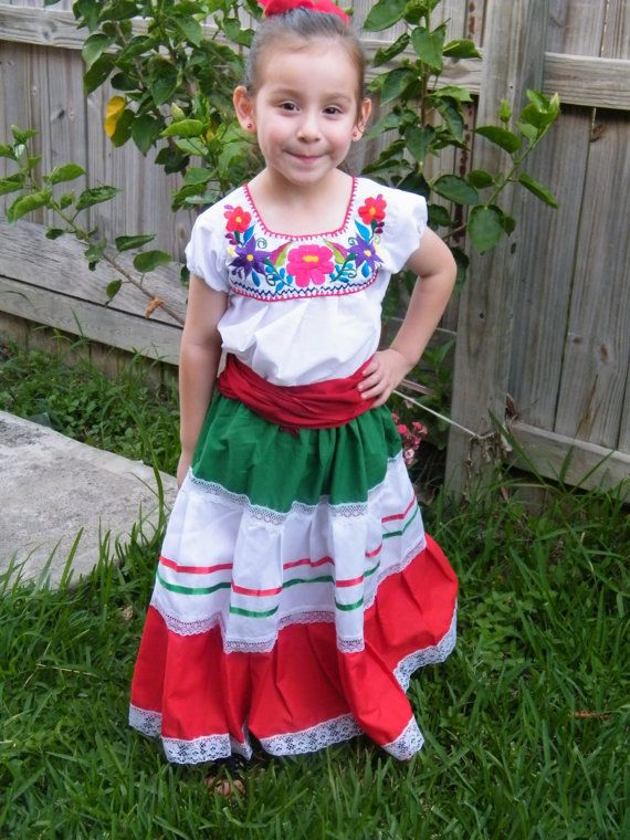 Ethnic Mexican Traditional Dress Folklorico Dance Cinco de Mayo ...